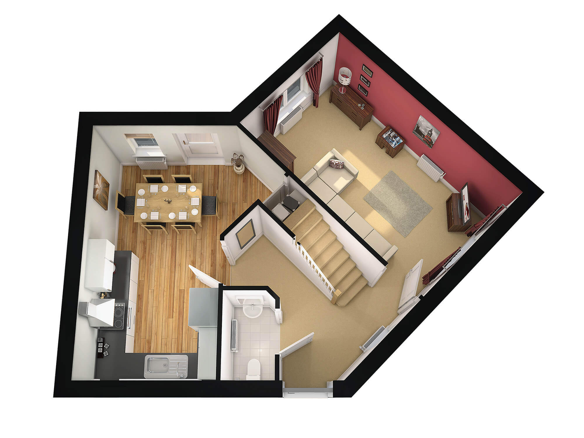 WHITE CROW STUDIOS -DUKES WOOD - 3D FLOORPLAN