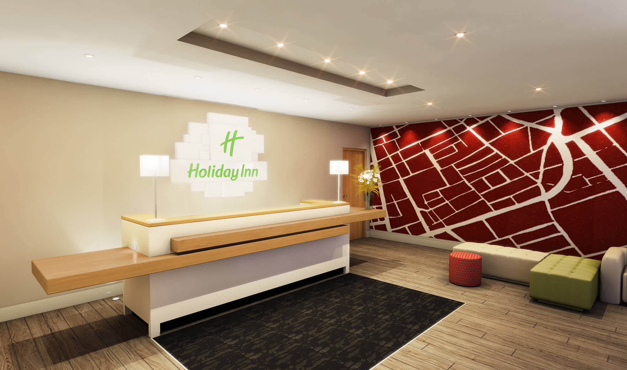 WHITE CROW STUDIOS - HOLIDAY INN RECEPTION - BRENTFORD LOCK, LONDON