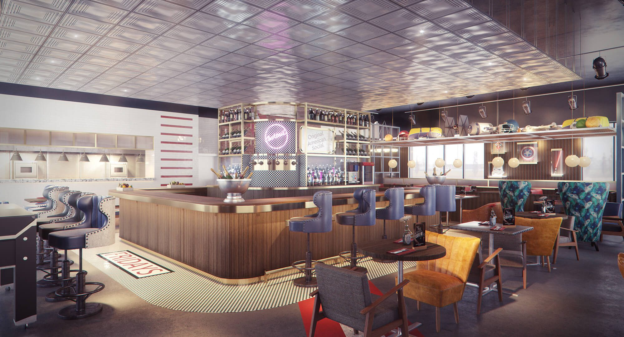 WHITE CROW STUDIOS - TGI FRIDAYS - INTERIOR CGI