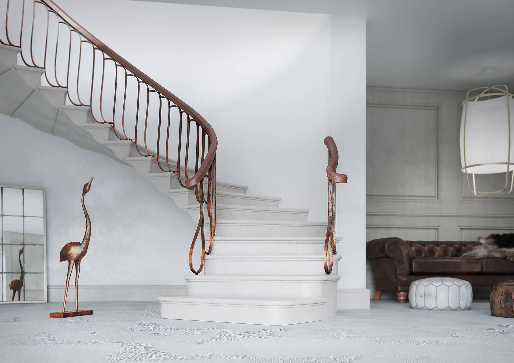 WHITECROW STUDIOS - CHESNEYS - STAIRCASE - PRODUCT CGI