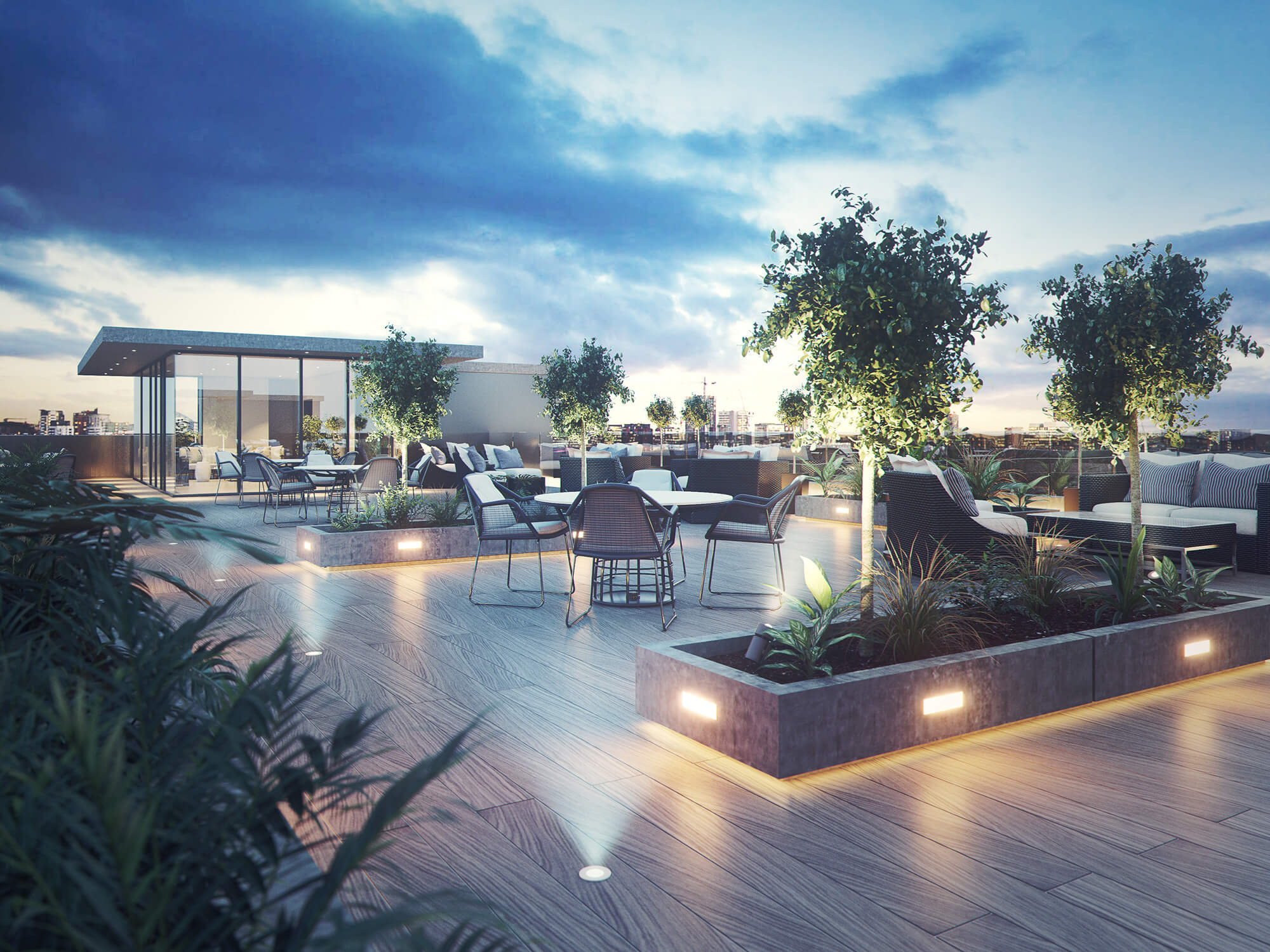 WHITE CROW STUDIOS - ROOF TERRACE CGI -ARCHITECTURAL CGI