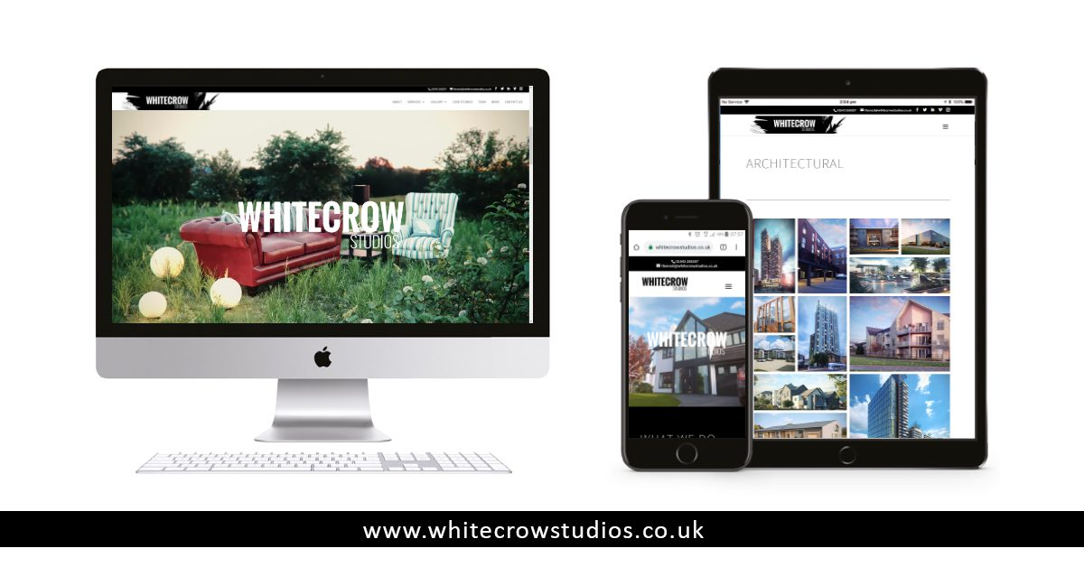 White Crow Studios New Website Visual