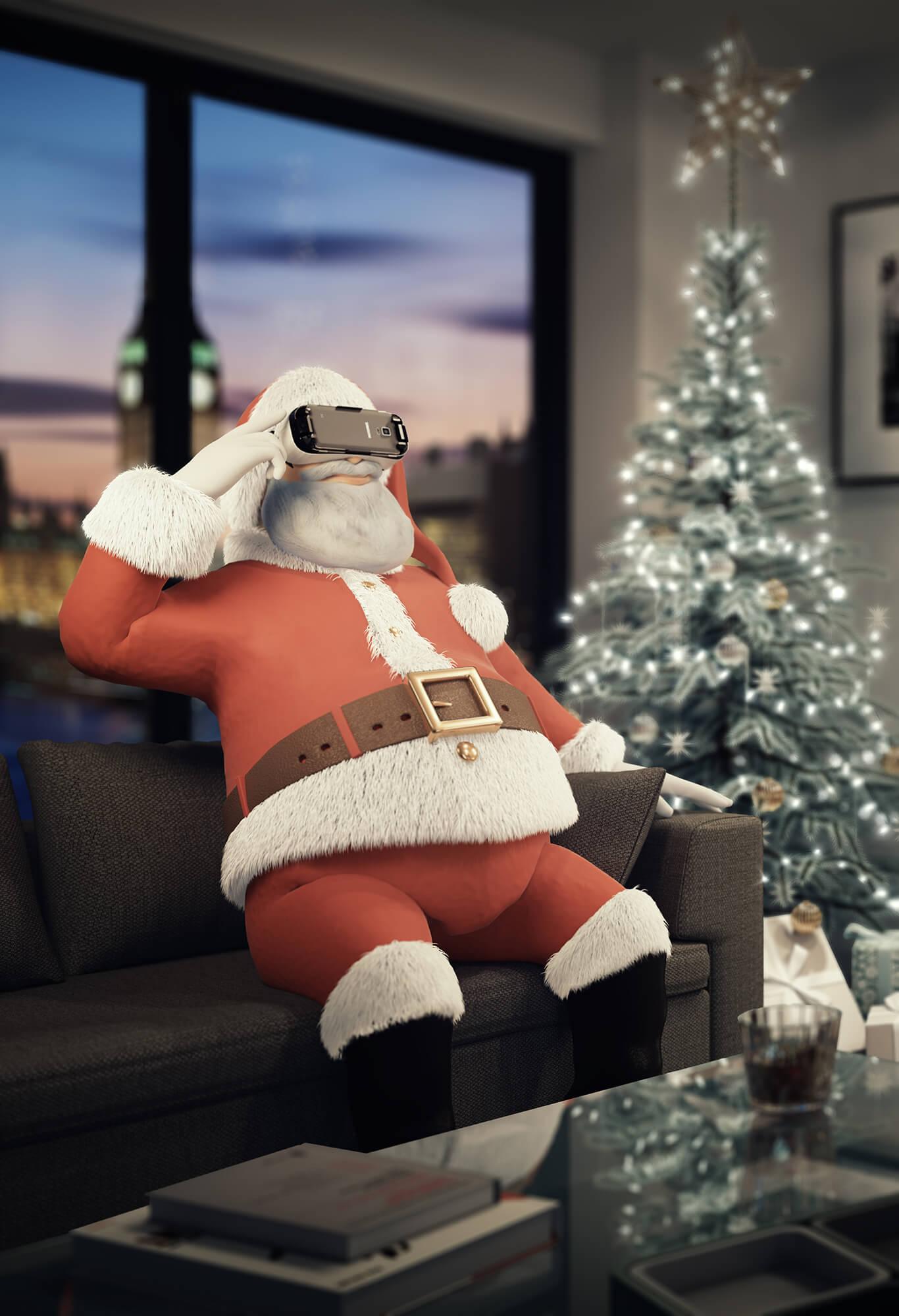 White Crow Studios - Santa wearing VR Headset