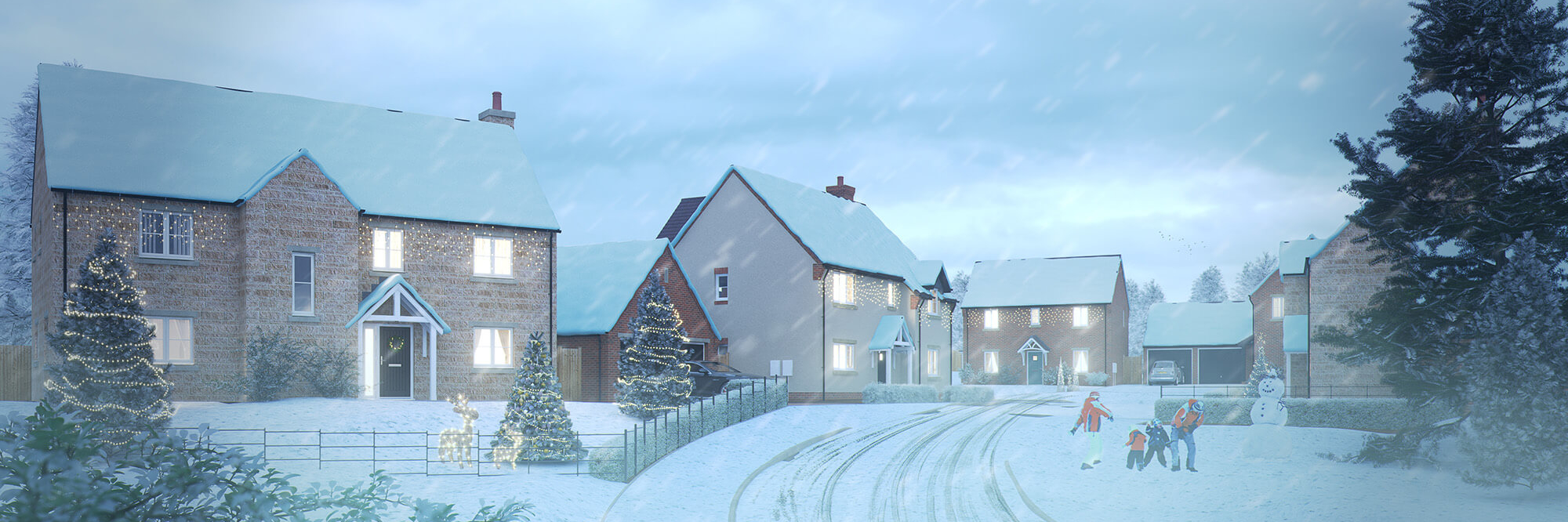 Cameron Homes - The Orchards Christmas Pano Image